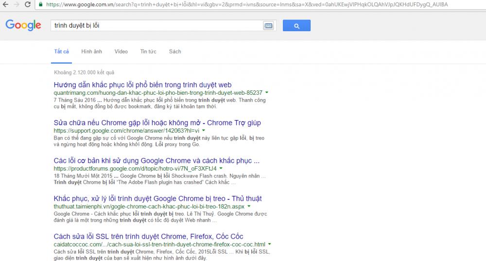 Cách Sửa Google Chrome Bị Lỗi