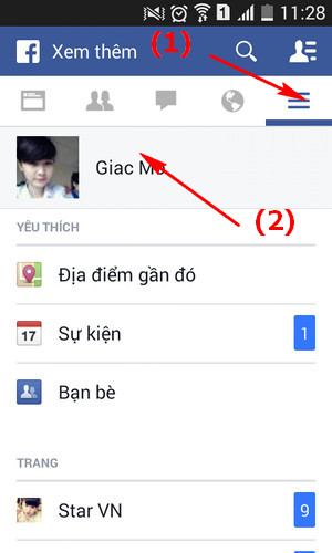 thay avatar facebook trên Android