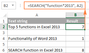 Search with wildcard characters in Excel