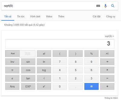 Máy tính trực tuyến của Google