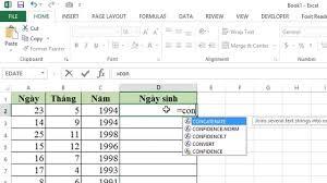 Nối Dữ Liệu 2 Cột Trong Excel