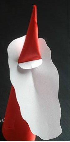 Lồng bộ râu vừa làm vào là bạn đã tạo được mô hình phác thảo của ông già Noel.