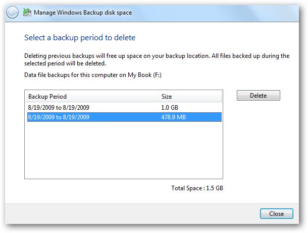 Click chọn nút View backups để kiểm tra các thời điểm sao lưu khác nhau