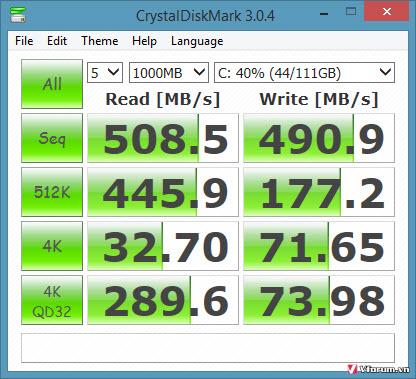 Hướng dẫn kiểm tra tốc độ đọc, ghi của ổ cứng HDD, SSD, USB, thẻ nhớ
