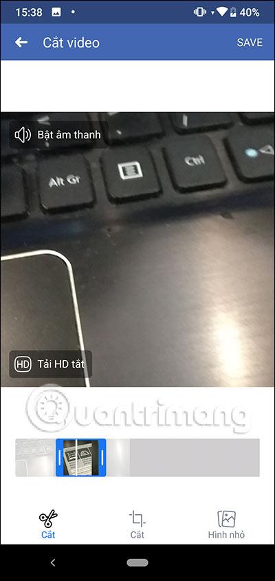 Chọn vị trí video