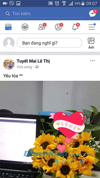 Đăng trạng thái Facebook