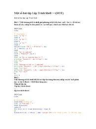 Bài Tập Lập Trình Shell Trong Linux
