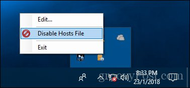 Click vào Disable Hosts File