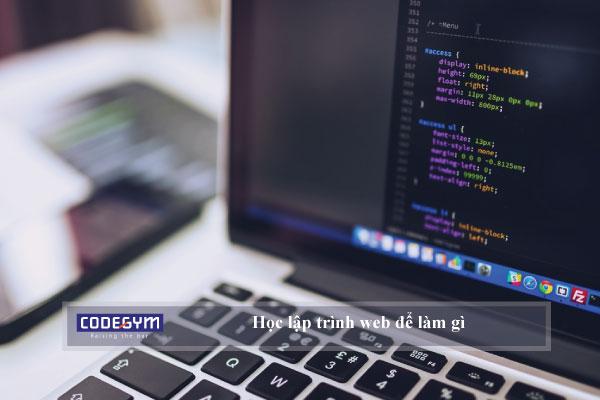 Học lập trình web để làm gì