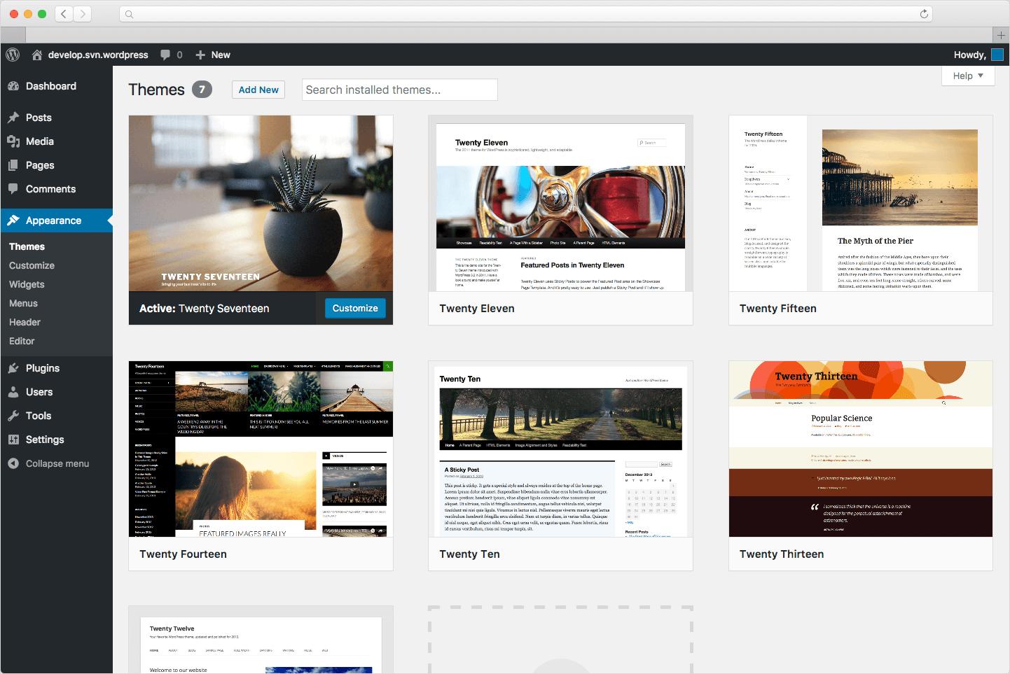 Các themes trên WordPress bao gồm cả mẫu tính phí và mẫu miễn phí