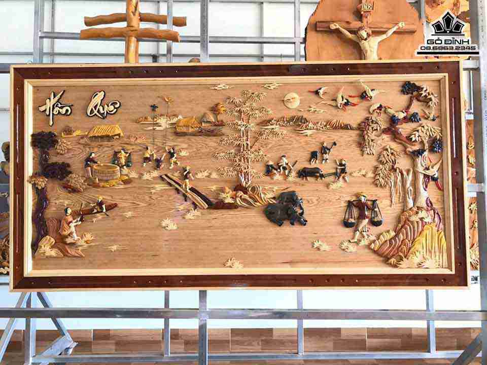 Tranh Đồng Quê 3D gỗ